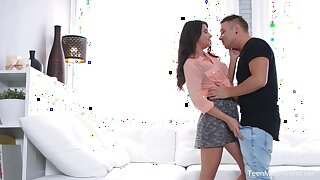 Cum loving Russian make obsolete Arianna fucked at the end of one's tether her boyfriend
