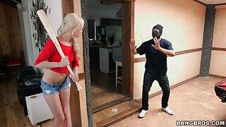 Black housebreaker with a large dick fucks horny blondie Elsa Jean