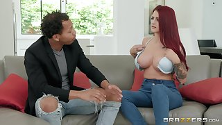 Redhead chick Tana Lea loves to fuck badly with her boyfriend