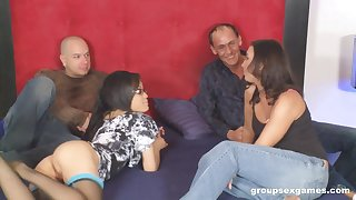 Kinky hardcore foursome with Jayla Starr and Honey White