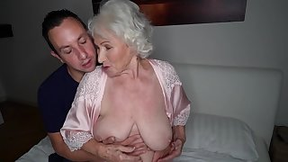 Busty mature granny Norma swallows every last drop of cum