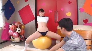 Hardcore Japanese couple fuck with a sporty brunette teen Kanae Ruka