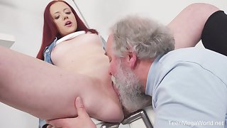 Young Tiffani Honour gets fucked by a senior guy and she loves it