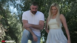 Eye catching blonde wifey Sophia Lux is poked by her bearded hubby well