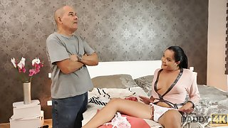 Old fart Lower House a sex crazed young slut into cheating on her boyfriend