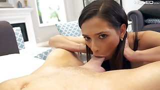 Svelte brunette Jaye Summers deserves some painful man of the cloth anal