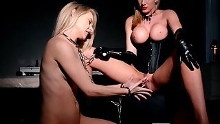 BDSM fetish with attractive lesbians Chloe Toy coupled with Danielle Maye