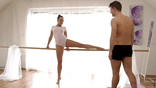 Hungarian lovely ballerina Blue Angel fucks mad right almost dance practice room