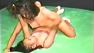 Asian Catfighting wrestling energy 4